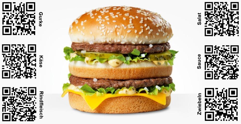 Gratis Big Mac Kostenlos QR Codes