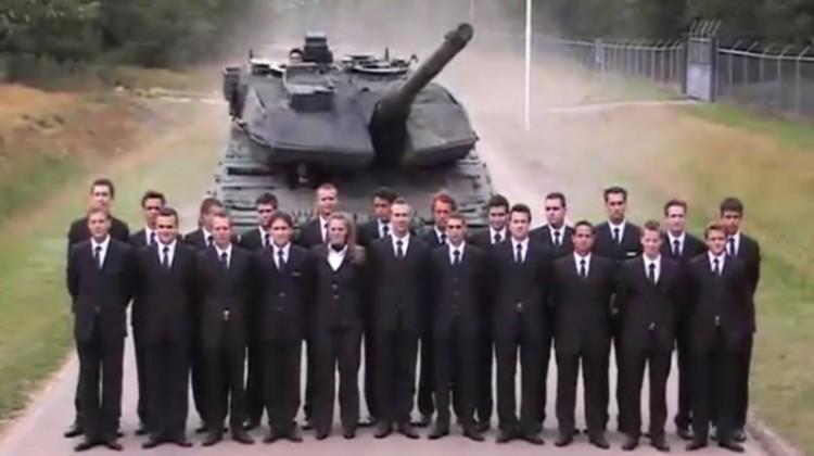 Panzer-Bremstest-Video