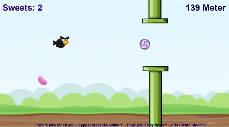 Angry Flappy Candy Bird Clone